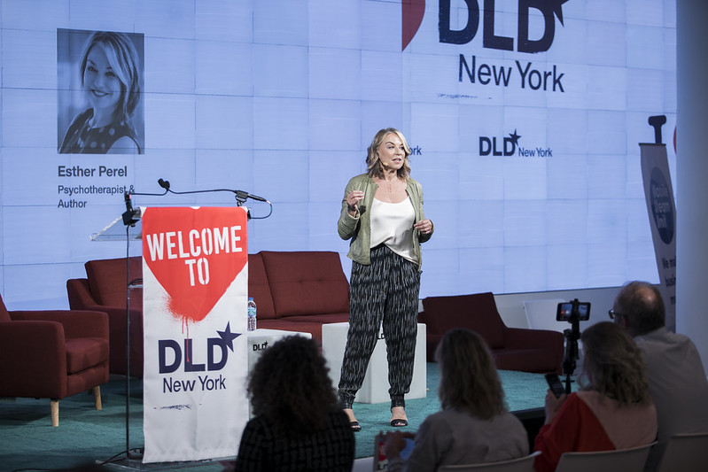 Esther Perel, Author DLD New York Conference 2018, IAC Building, New York City, May 2nd.  Free press image ( Agaton Strom for DLD)